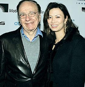 Rupert Murdoch and Wife Wendi Deng Photo